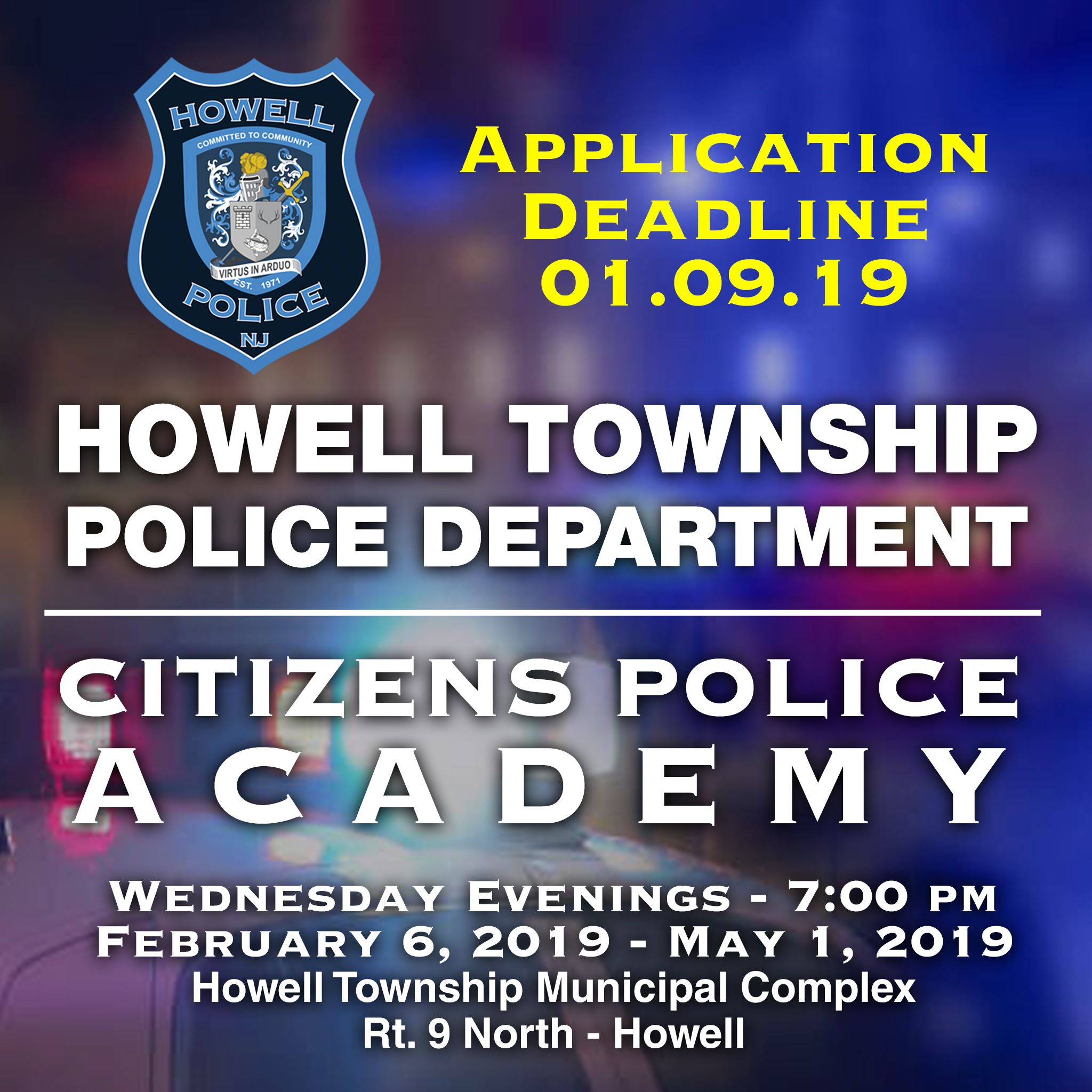 Howell PD Citizens Police Academy 2019
