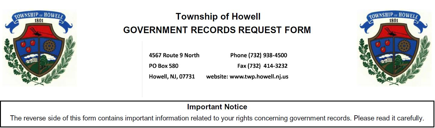 Howell Township, NJ - Official Website