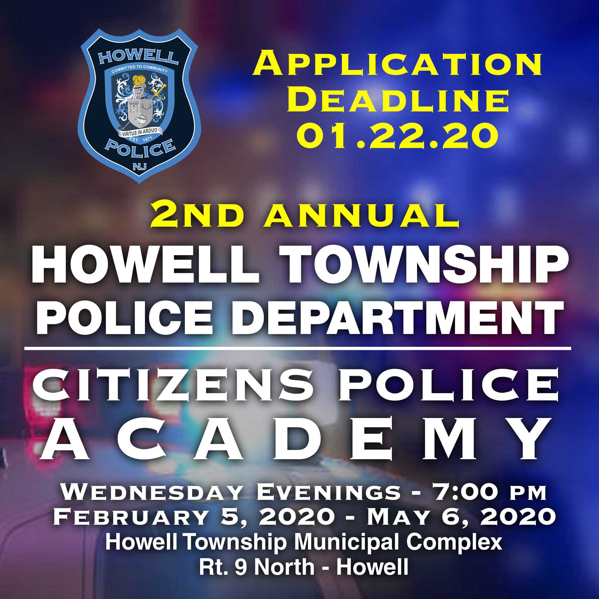 Howell PD Citizens Police Academy 2020